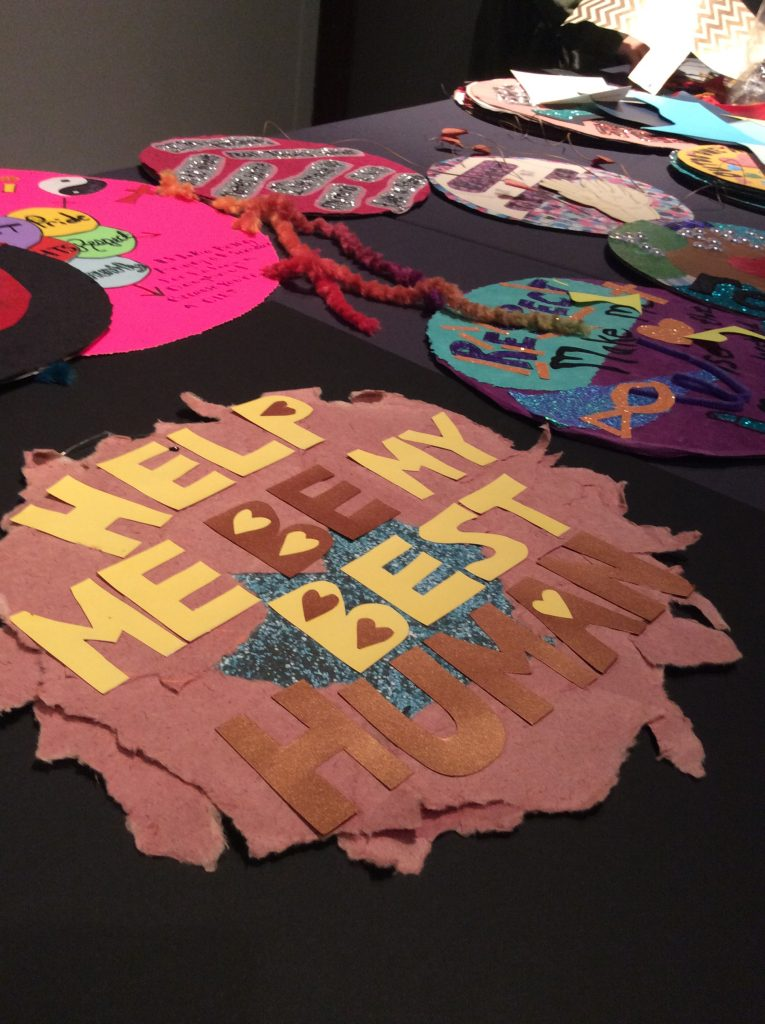 Teachers create art for the Respect Art Project at a teacher workshop at The Sixth Floor Museum.