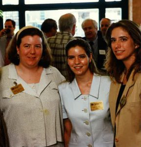 Megan Bryant with Museum staff in June 1997