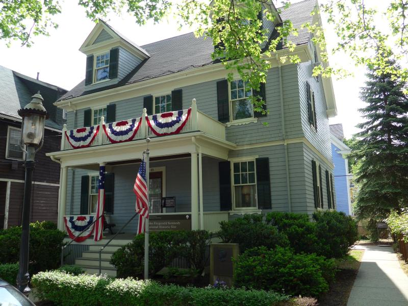 JFK's childhood home. Credit: John F. Kennedy National Historic Site / U.S. National Park Service