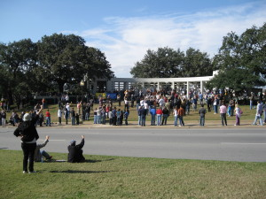 People gather on the Grassy Knoll - 2009