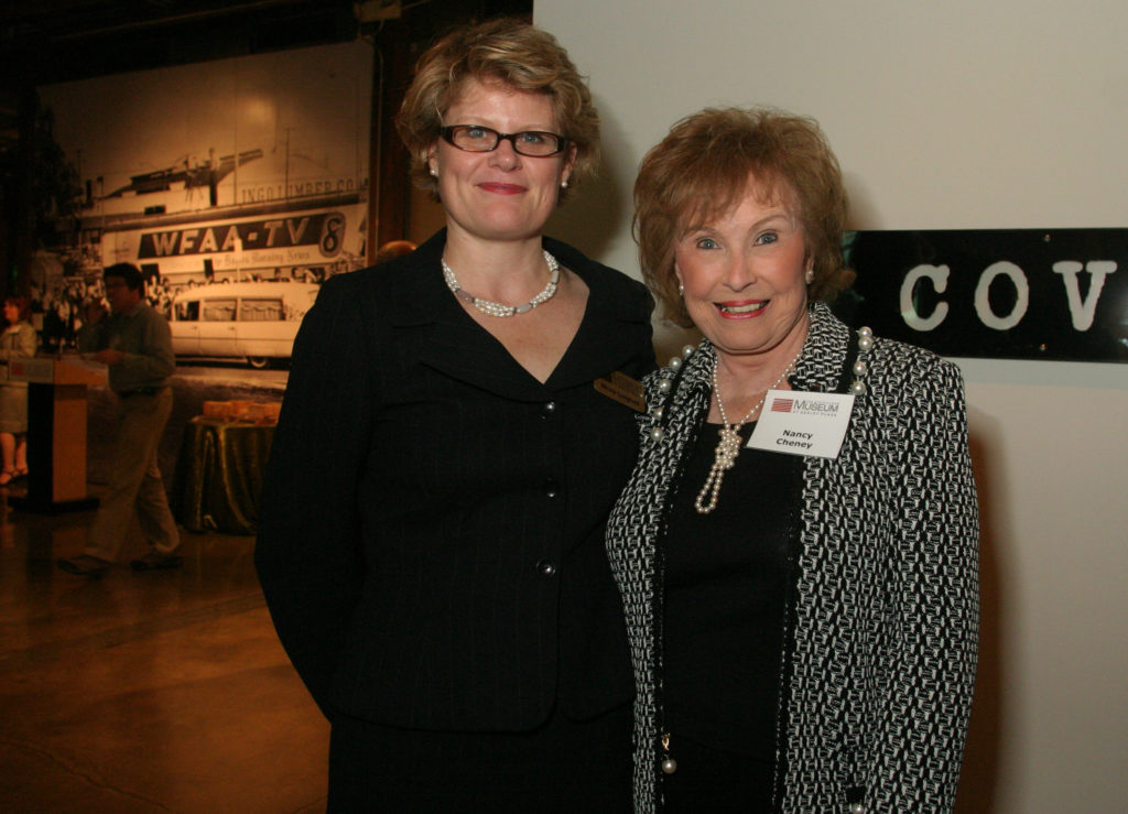 Museum Chief Executive Officer Nicola Longford stands next to Nancy Cheney during a special event in 2005.