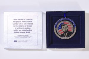 Christmas ornaments featuring Dealey Plaza and the JFK Centennial (1917-2017)